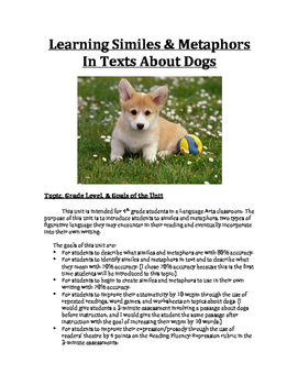 Fluency Resource Guide - Learning about Similes/Metaphors Using Texts about Dogs