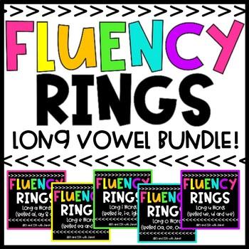 Fluency Rings Bundle #2  {long a/long e words}