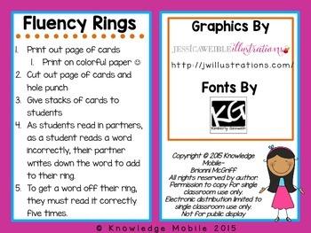 Fluency Rings - FREEBIE - Student Word Fluency Tracker