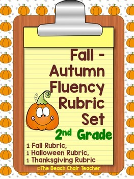 Fluency Rubric 2nd Second Grade for Autumn Fall