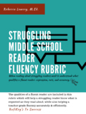Struggling Middle School Reader Fluency Rubric