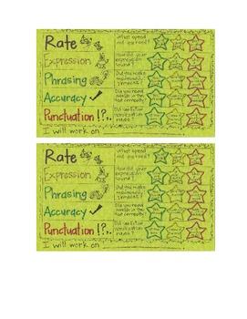 Fluency Rubric Self-Assessment