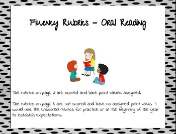 Fluency Rubrics - Oral Reading