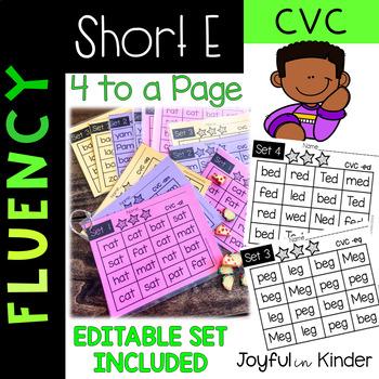Fluency {SHORT E} -Editable