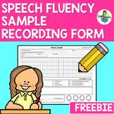 Fluency Sample Recording Form