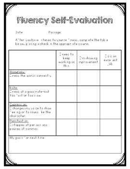 Fluency Self Evaluation