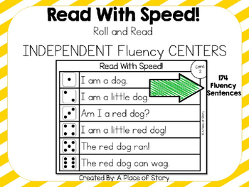 Fluency Sentence Roll and Read Centers (CVC and Blends)