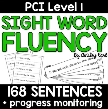 Sentences to Practice Fluency - Reading Supplements for PCI Level 1 Sight Words