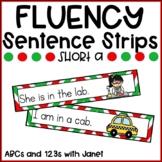 Fluency Sentence Strips {short a, Christmas}