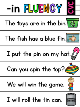 Fluency Sentences