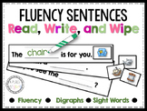 Fluency Sentences Read, Write, and Wipe Center (Digraphs)