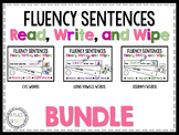 Fluency Sentences Read, Write, and Wipe Center (BUNDLE)