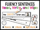Fluency Sentences Read, Write, and Wipe Center (L-Blends)