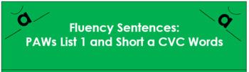Fluency Sentences - Short a CVC (Book 1a)