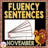 Fluency Sentences for November