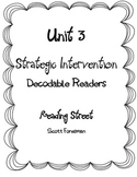 Fluency Sentences for Unit 3 Strategic Decodable Readers R