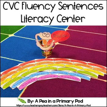 Fluency Sentences with CVC Words (Hungry, Hungry Rainbow Cloud)
