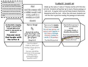 Fluency Shake Up Dice Activity