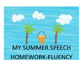 Fluency Shaping Summer Homework Packet