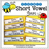 Short Vowel Fluency Strips & Comprehension Quick Sketch