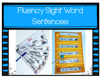 Fluency Sight Word Sentences & Fill-in-the-Blank Sight Word Practice