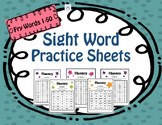 Sight Words Practice Sheets - Fluency