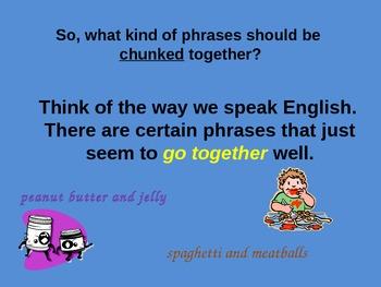 Fluency Skill:  Chunking Sentences