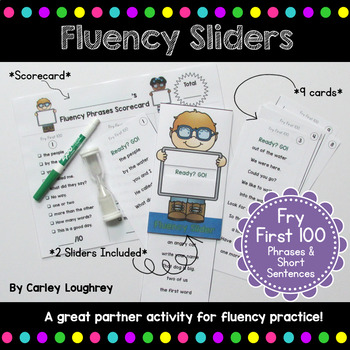Fluency Sliders: Sight Word Practice {Fry Words 1-100 Phrases}