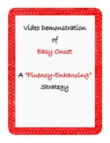 """Fluency Speech Therapy QR Code Home Practice: Video of """"Easy Onset"""" strategy"""