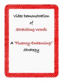 """Fluency Speech Therapy QR Code Home Practice: Video of """"Stretching Words"""""""
