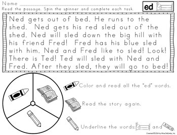 Fluency Spinners Short Vowel Edition