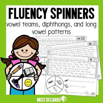 Fluency Spinners Vowel Teams and Diphthongs