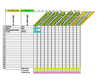 Fluency Spreadsheet for 1,000 words (FREE)