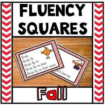 Fluency Squares Fall Autumn Edition RF.1.4