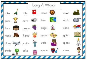 Fluency Squares Long a_e