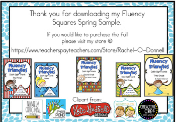 Fluency Squares SAMPLE Spring Edition RF.1.4