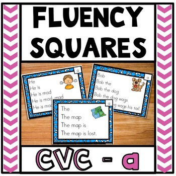 Fluency Squares Short A CVC words