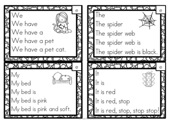 Fluency Squares Short E CVC words