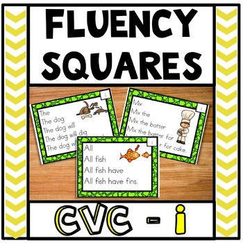 Fluency Squares Short I CVC words