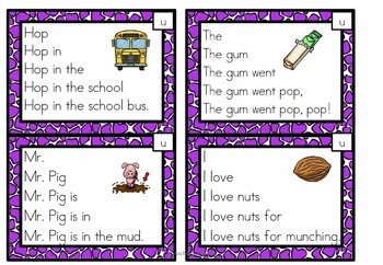 Fluency Squares Short Vowels CVC BUNDLE