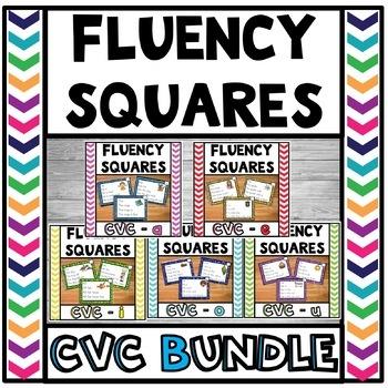 Fluency Squares Short Vowels CVC BUNDLE