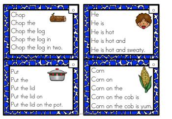 Fluency Squares Short o CVC words