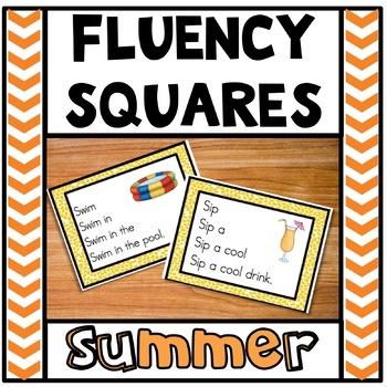 Reading Fluency Squares Summer Edition RF.1.4