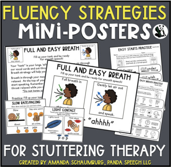 Fluency Strategies Mini-Posters for Stuttering Therapy