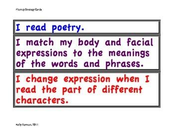 Fluency Strategy Cards
