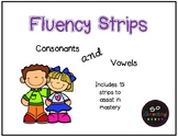 Fluency Strips Consonants and Vowels