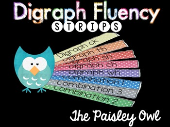 Fluency Strips (Digraph with pre-primer and primer sight words)