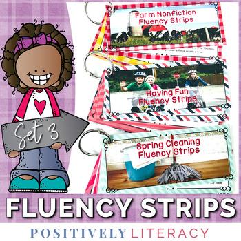 Fluency Strips ~ Fluency Practice for 2nd & 3rd Grades Set 3