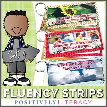 Fluency Strips ~ Fluency Practice for 2nd & 3rd Grades Set 4