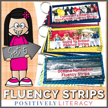 Fluency Strips ~ Fluency Practice for 2nd & 3rd Grades Set 5